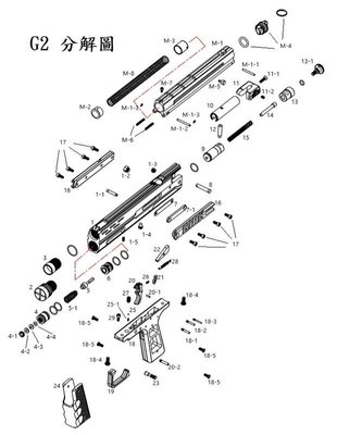 【武莊】現貨 FS華山G2 ELITE CO2黑色17mm鎮暴槍原廠客訂零件專用賣場(現貨供應)-FSG2PARTS