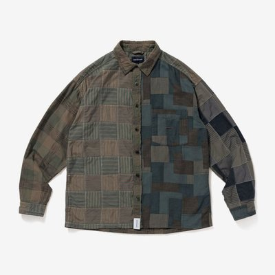 Tsu 日本代購 DESCENDANT DISTRIBUTION PATCHWORK LS SHIRT 拼接 襯衫