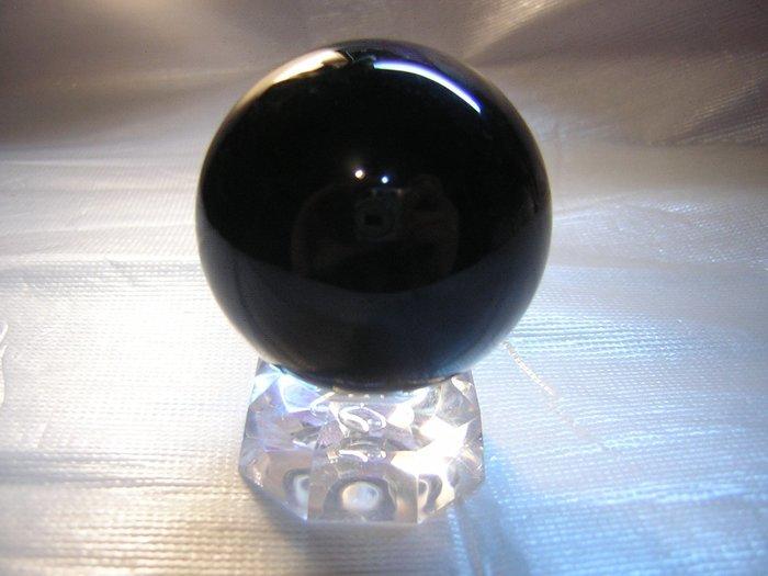 【采鑫坊】黑曜石水晶球~黑曜球45mm《直購品》附座~