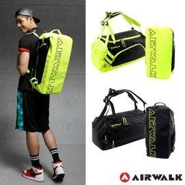 勝德豐 AIRWALK  休閒兩用運動圓筒旅行袋/健身包/運動包/後背包/手提包/側背包/斜背包#A4313234黃