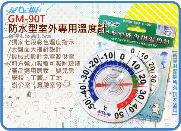 =海神坊=GM-90T NDRAV 防水型室外專用溫度計 7段彩色溫度指示 嬰兒房 學校 實驗室 冷凍庫 吸盤 免電池