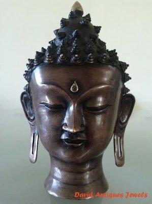 ((天堂鳥)) 銅製釋迦牟尼佛頭雕像