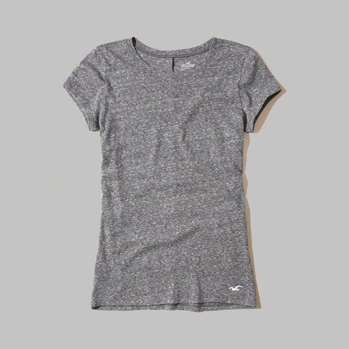 【HOLLISTER Co.】【HCO】HC女款短袖素T左下白鷗花灰 F03170321-14