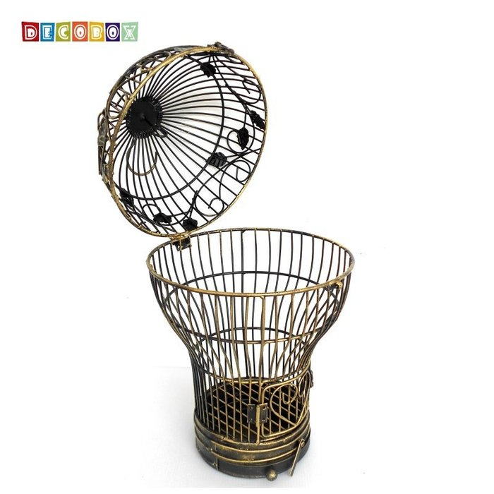 DecoBox燈泡青銅小花架(鳥籠,燈泡花架,園藝,花台,花插,鍛鐵展示架)