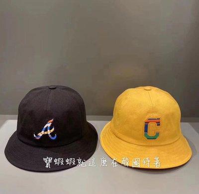 MLB 100%韓國代購 MLB 洋基帽 棒球帽 漁夫帽 32CPHT011-01L/45D 彩色英文字母 漁夫帽 黑色/白色