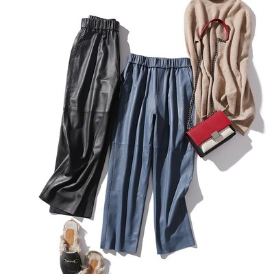 【Elegant girl】時髦、顯瘦!今冬bi須有!土er其綿羊皮 搭配度超高 微錐型九分褲