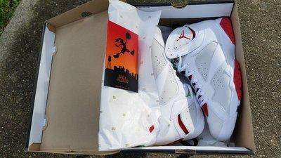 Air Jordan 7 Retro Hare 白紅 AJ 7 AJ7 7代 七代【US 10】台灣公司貨 兔寶寶