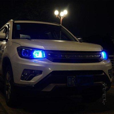 示寬燈超亮led透鏡汽車車外燈日行燈改裝通用行車燈t10冰藍小燈泡--晴景街