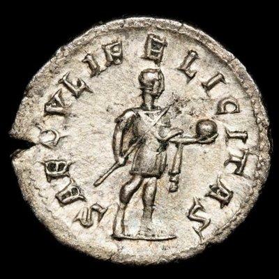 【閒雲雅士】古羅馬銀幣 (#11) — Gordian III (1780年歷史古銀幣) 保真 有保證書