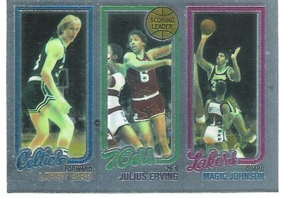 1996 Topps Reprint Larry Bird / Magic Johnson  Julius Irving