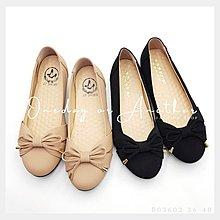 上班族必備??MIT台灣製造 蝴蝶結 圓頭 皮革磨砂 圓頭尖頭 包鞋 黑色 軟底 氣墊 工作鞋 娃娃鞋 OL櫃姐
