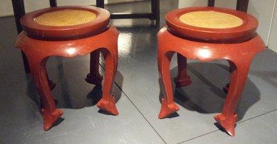 【一(藝)窩】近代 小圓凳 ~一對~榆木~老料新作 宋式家具