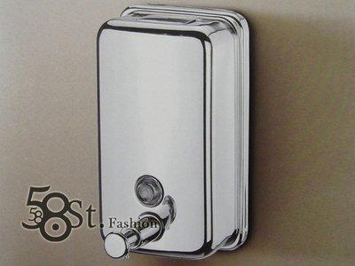 【58街】不鏽鋼衛浴精品「高檔皂液器,手動乳液瓶, 沐浴乳瓶」。AZ-291