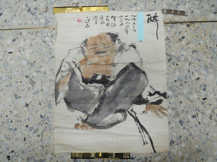 【收購字畫店】鍾正山,人物,設色水墨畫作品