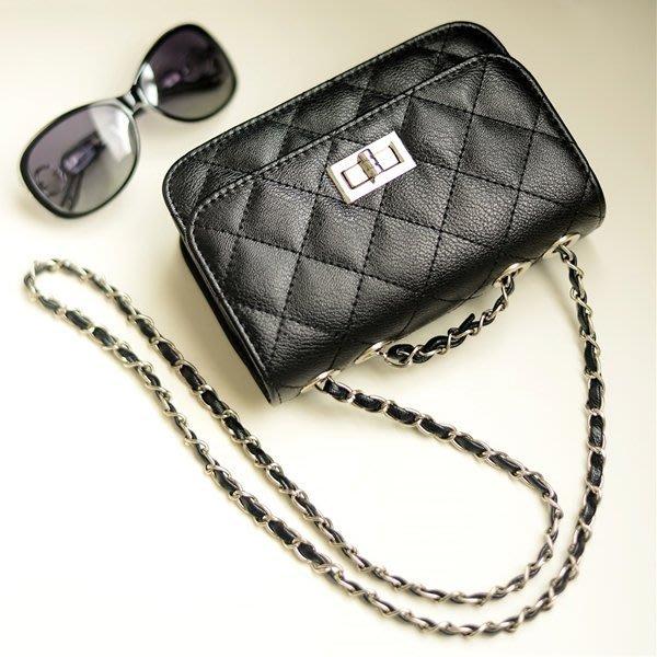 5Cgo【鴿樓】會員有優惠 14989633143 菱格小包包 鏈條包時尚韓版 迷妳單肩斜背包女包