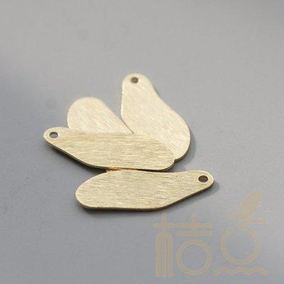 橙子的店 DIY飾品銅配件22.2*8.8mm雙面拉絲不定形吊墜銅片幾何圖形(3933C)