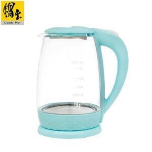 【鍋寶】玻璃快煮壺1.8L-藍