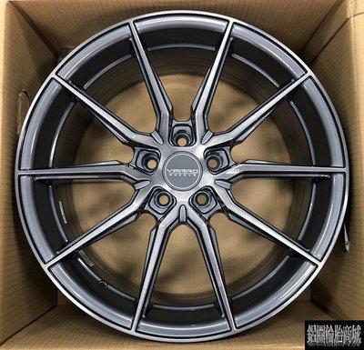 全新鋁圈 美國品牌 VARRO VD20 18吋旋壓 5孔108 5孔112 5孔114.3 5孔120 灰底染灰面髮絲