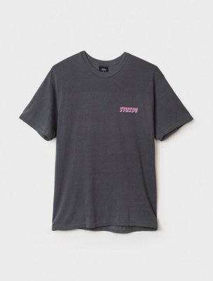 【ComeAgain】STUSSY GLOBAL PIGMENT DYED TEE 黑