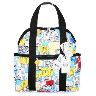 【Lydia代購】 LeSportsac Doraemon 50週年紀念 漫畫格 2442 手提/雙肩後背包 輕量 多夾