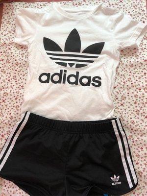 日本購入 正品 Adidas 愛迪達 Original 白色短T 經典三葉草短T