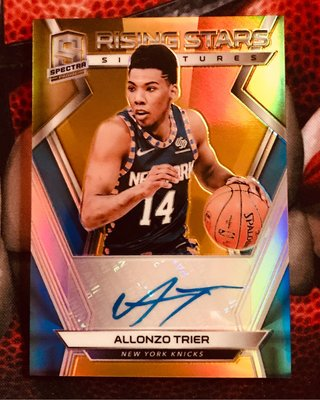 2018-19 PANINI SPECTRA Allonzo Trier ROOKIE RISING STAR AUTO Gold 5/10 SSP RC