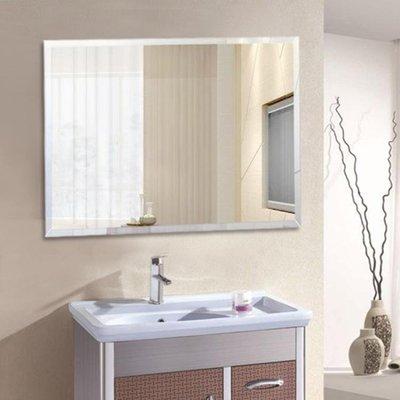 浴室鏡壁掛衛浴鏡可粘貼廁所衛生間鏡子玻璃定做貼墻大鏡子化妝臺