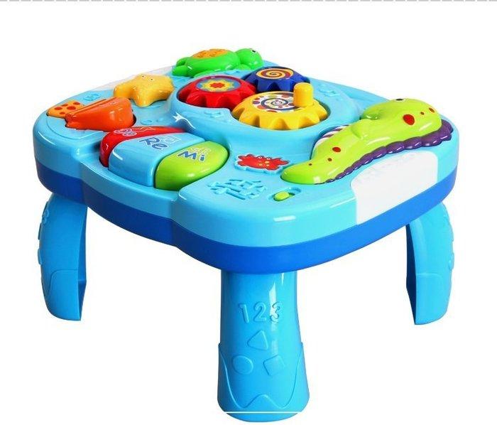 益智早教玩具~海洋世界音樂學習桌~嬰兒多功能音樂遊戲桌~兒童趣味學習玩具台~◎童心玩具1館◎