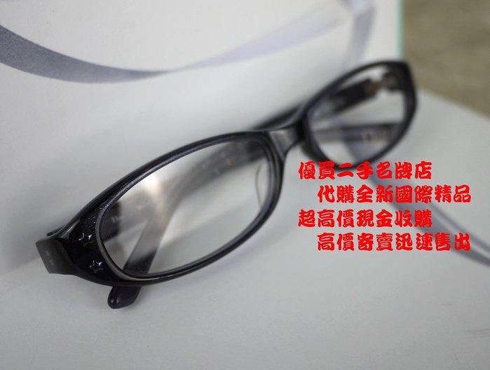 ╭☆優買二手名牌店☆╯Christian Dior CD 基本款 膠框 LOGO壓印 眼鏡 太陽眼鏡