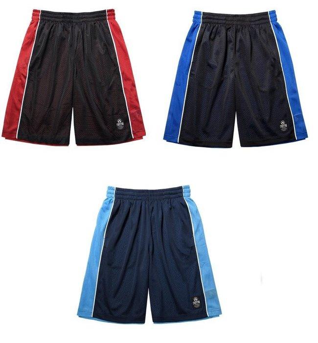超低特價390元~台灣製造 FIRESTAR 吸溼排汗 雙層網布籃球褲 B3702 任選2件免運費! 《新動力》
