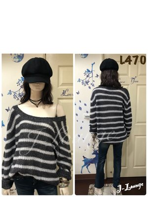 L470 全新American Eagle 副牌aerie 條紋寬鬆毛衣美式休閒oversized stripped sweater J-Lounge
