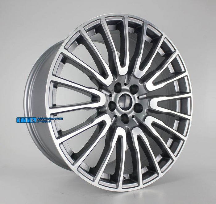 類2018年新款BMW G12 油電車 選配款 20吋 5孔112/120 前後配 F:8.5J R:10J 灰底車面
