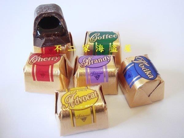【不二家海盜屋】超取滿799元免運費-華麗伏特加酒心巧克力-250g醉人價180元--冬期限定--另有櫻桃/萊姆/白蘭地