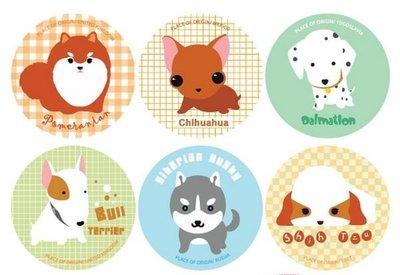 *YOOWOO*C【韓國空運 Baby Puppy 幸福秘密 大麥町 雪納瑞 巴戈 牛頭梗 吉娃娃 臘腸狗 錦集貼紙】