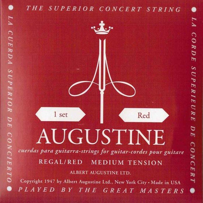AUGUSTINE Regal Red 奧古斯丁 古典吉他弦 紫紅 高音超高張 低音中張 - 【黃石樂器】