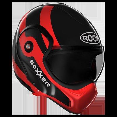 台中皇欣!!正法國 ROOF 出品全罩安全帽 RO9 BOXXER FUZO 黑紅 !!下巴可掀變3/4!!免運費!!
