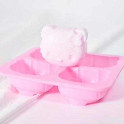 戀物星球 diy硅膠模具 手工皂香皂單模4連hello kitty貓約出皂77g