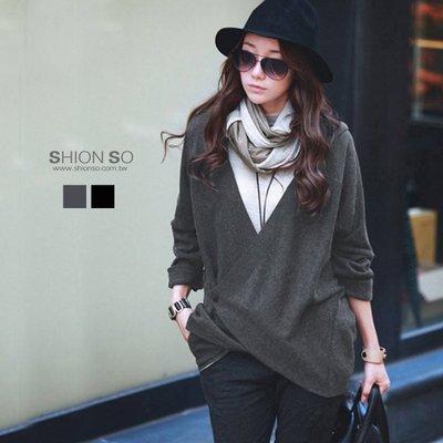 享瘦衣身中大尺碼【B3017】時尚單扣連帽毛絨衫&外套二穿款