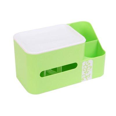 LoVus  雙格置物收納紙巾盒桌面收納盒