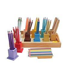 【劍聲幼教拍賣】【三角筆整組(彩色筆筒)】幼稚園、托兒所、畫圖、素描、寫生、寫字
