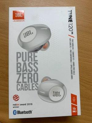 JBL 真無線 入耳式 耳機 TUNE 120 TWS 藍芽耳機