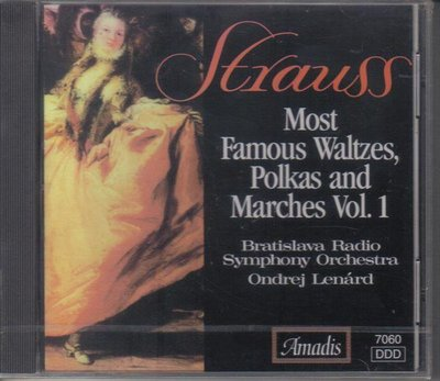 華聲-Strauss:Most Famous Waltzes, Polkas and Marches Vol.1 /全新CD *進口版*