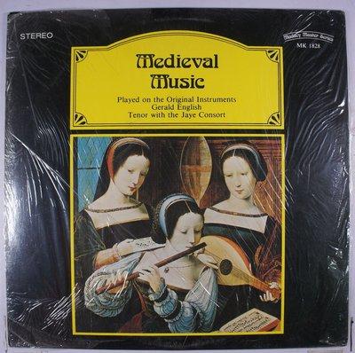 《全新加版黑膠》Gerald English With The Jaye Consort – Medieval Mus