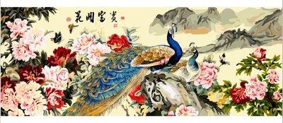 ArtLife藝術生活 【70080】花開富貴_數字油畫 DIY 彩繪 70*200cm