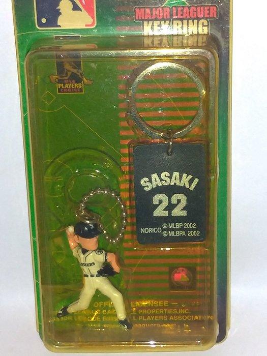 貳拾肆棒球--日本帶回美國大聯盟MLB西雅圖水手佐佐木主浩紀念吊飾