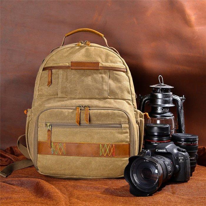 相機包 防刮擦 攝影專用包七色新品棉相機包單反帆布攝新影包防水雙肩背包佳能尼康專業攝影雙肩包K02