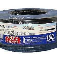 【划算的店】PX大通168編織5C同軸電纜線100米 5C-100M (非128編織) /適用數位無線電視