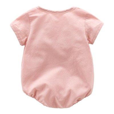 新生兒夏季滿月寶寶三角哈衣嬰兒夏裝薄款包屁衣 AD625