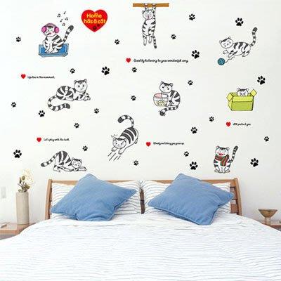創意壁貼-小猫表情隨心貼 SK9049-1025【AF01013-1025】