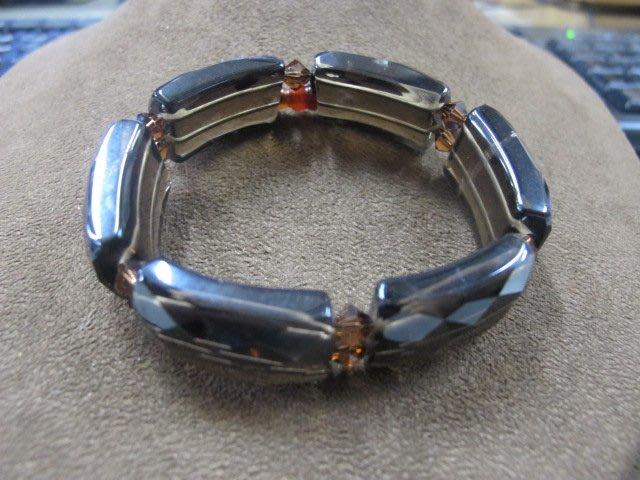二手舖 NO.4010 天然水晶 茶晶手鍊 手環 手珠 串珠 首飾飾品